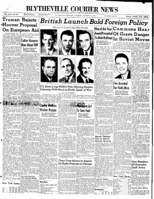 The Courier News from Blytheville, Arkansas on January 22, 1948 · Page 1
