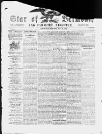 Sample Star of Vermont and Farmer's Register front page