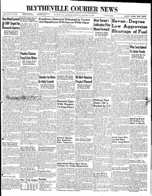 The Courier News from Blytheville, Arkansas on January 24, 1948 · Page 1
