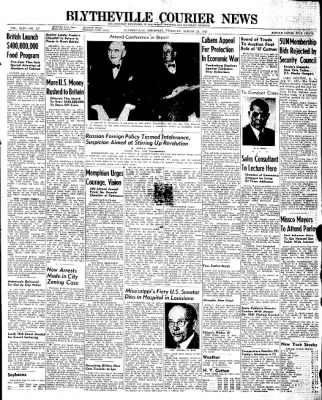 The Courier News from Blytheville, Arkansas on August 21, 1947 · Page 1