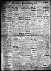 Sample Morning Post-Telegram front page