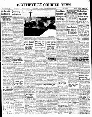 The Courier News from Blytheville, Arkansas on February 3, 1948 · Page 1