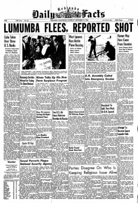Redlands Daily Facts from Redlands, California on September 17, 1960 · Page 1