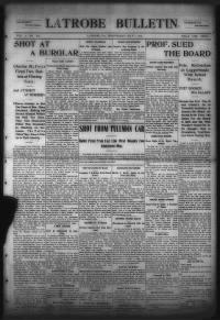Sample Latrobe Bulletin front page