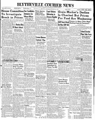 The Courier News from Blytheville, Arkansas on February 9, 1948 · Page 1