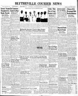 The Courier News from Blytheville, Arkansas on September 4, 1947 · Page 1