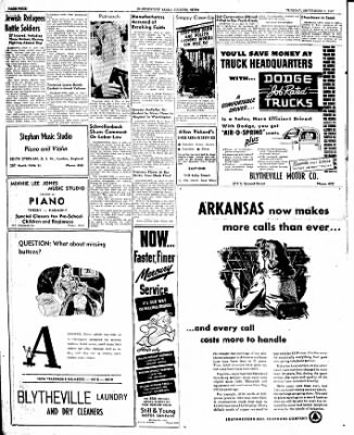 The Courier News from Blytheville, Arkansas on September 9, 1947 · Page 4