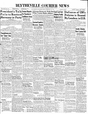 The Courier News from Blytheville, Arkansas on February 20, 1948 · Page 1