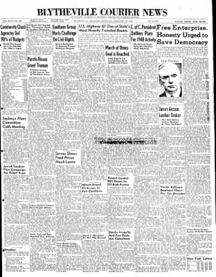 The Courier News from Blytheville, Arkansas on February 21, 1948 · Page 1