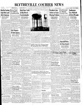 The Courier News from Blytheville, Arkansas on February 23, 1948 · Page 1
