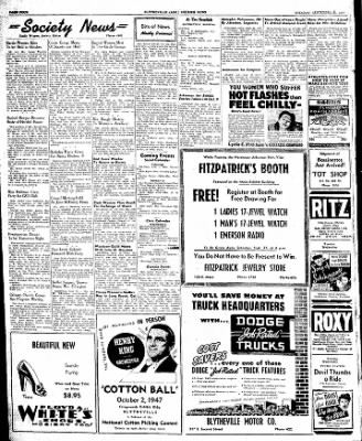 The Courier News from Blytheville, Arkansas on September 23, 1947 · Page 4