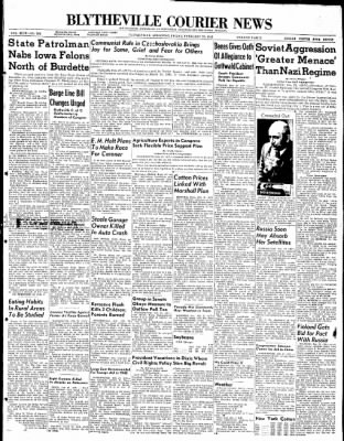 The Courier News from Blytheville, Arkansas on February 27, 1948 · Page 1