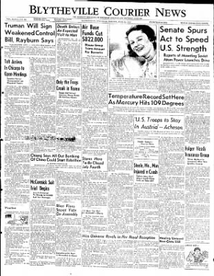 The Courier News from Blytheville, Arkansas on June 30, 1952 · Page 1