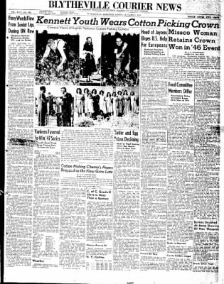 The Courier News from Blytheville, Arkansas on October 3, 1947 · Page 1