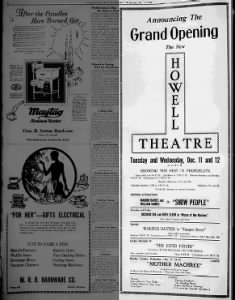 Howell theatre opening
