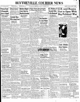The Courier News from Blytheville, Arkansas on October 7, 1947 · Page 1