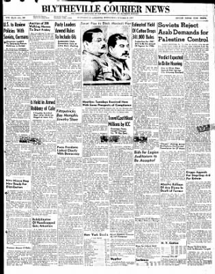 The Courier News from Blytheville, Arkansas on October 8, 1947 · Page 1