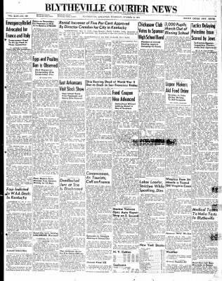 The Courier News from Blytheville, Arkansas on October 9, 1947 · Page 1