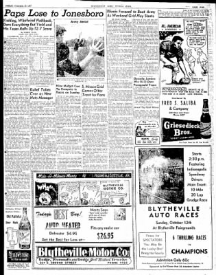 The Courier News from Blytheville, Arkansas on October 10, 1947 · Page 9