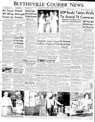 The Courier News from Blytheville, Arkansas on July 1, 1952 · Page 1