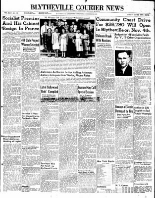 The Courier News from Blytheville, Arkansas on October 22, 1947 · Page 1