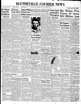 The Courier News from Blytheville, Arkansas on October 24, 1947 · Page 1