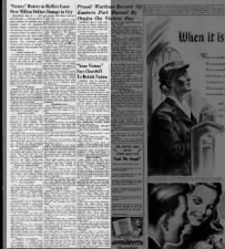 Newspaper article about the riots and looting in Halifax, Canada, on V-E Day