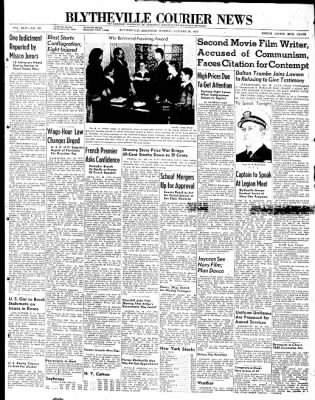 The Courier News from Blytheville, Arkansas on October 28, 1947 · Page 1