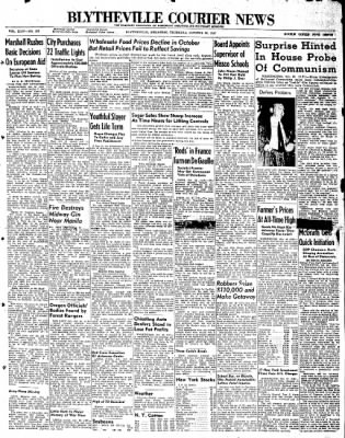 The Courier News from Blytheville, Arkansas on October 30, 1947 · Page 1