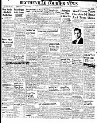 The Courier News from Blytheville, Arkansas on November 3, 1947 · Page 1