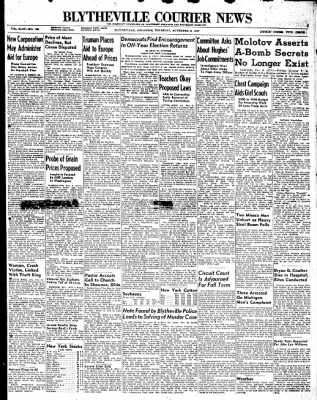 The Courier News from Blytheville, Arkansas on November 6, 1947 · Page 1