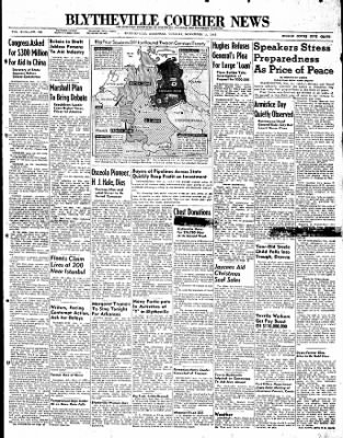 The Courier News from Blytheville, Arkansas on November 11, 1947 · Page 1