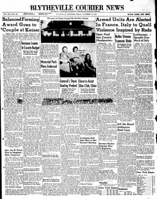 The Courier News from Blytheville, Arkansas on November 14, 1947 · Page 1