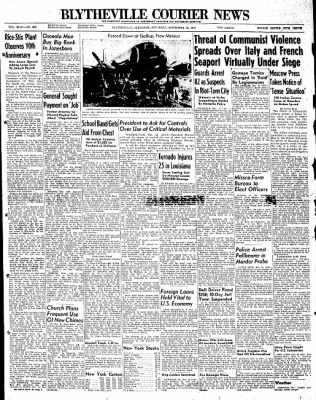 The Courier News from Blytheville, Arkansas on November 15, 1947 · Page 1