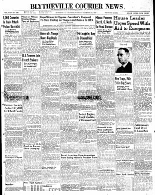 The Courier News from ,  on November 18, 1947 · Page 1