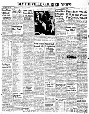 The Courier News from Blytheville, Arkansas on November 21, 1947 · Page 1