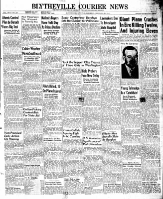 The Courier News from Blytheville, Arkansas on December 28, 1946 · Page 1