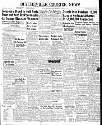 The Courier News from Blytheville, Arkansas on January 8, 1947 · Page 1