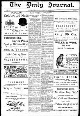 Logansport Pharos-Tribune from Logansport, Indiana on April 5, 1891 · Page 1