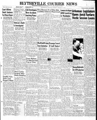 The Courier News from Blytheville, Arkansas on January 13, 1947 · Page 1