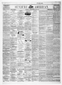 Sample Sunbury American front page
