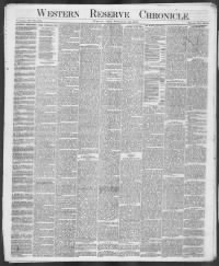 Sample Western Reserve Chronicle front page