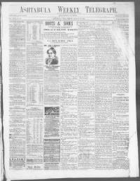 Sample Ashtabula Weekly Telegraph front page