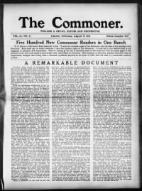 Sample The Commoner front page