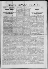 Sample Blue-Grass Blade front page