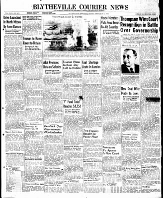 The Courier News from Blytheville, Arkansas on February 7, 1947 · Page 1