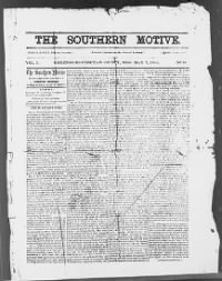 Sample The Southern Motive front page
