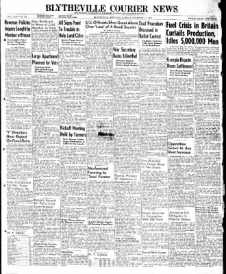 The Courier News from Blytheville, Arkansas on February 11, 1947 · Page 1