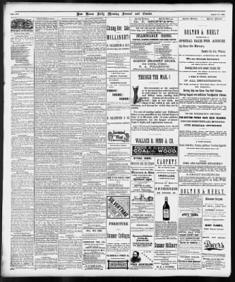 The Morning Journal-Courier from New Haven, Connecticut on August 10, 1886 · 2