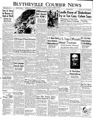 The Courier News from Blytheville, Arkansas on December 10, 1951 · Page 1